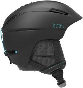 Salomon Icon 2 M Womens Helmet Ski Snowboard Snow Med 56-59cm Black NEW RRP£90