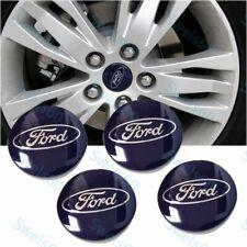 4X Wheel Center Hub Caps Emblem Rim Hubcap Cover 54mm for Ford 6M21-1003-AA BLUE