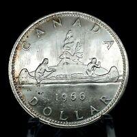 1966 CANADA VOYAGEUR SILVER DOLLAR CHOICE UNCIRCULATED. KM#64.1