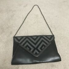 black rhinestone Aldo wallet on chain purse