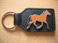 Schlüsselanhänger Pferd braun / Horse brown Art. 2000 mit Klett zum befestigen