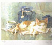 """GILLIAN CAROLAN ~ """"ARISTOCAT""""  -  / GINGER and WHITE CAT ~Signed Limited Edition"""