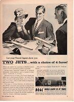 1958 ORIGINAL VINTAGE BOAC (BRITISH OVERSEAS AIRWAYS CORPORATION) MAGAZINE AD