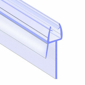 Rubber Plastic Bath Shower Screen Door Seal Strip for 4-6mm Glass Gap to 20mm