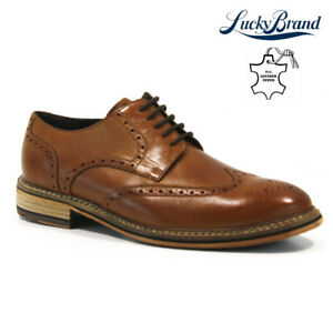 MENS NEW REAL LEATHER ITALIAN CASUAL FORMAL BROGUE OXFORD OFFICE WEDDING SHOES