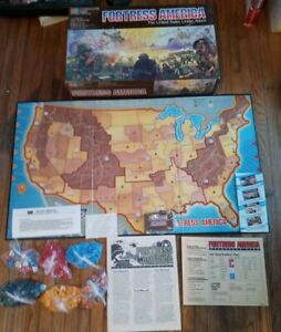 Fortress America 1986 Board Game 100% Complete Milton Bradley w/ extra pieces
