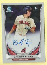 2014 Bowman Draft Baseball Bradley Zimmer Rookie Auto Autograph Indians #BCA-BZ