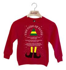 1032q165p Maglione Rosso Da Bambino Benetton Fantasia Natalizia Taglia 34 Anni | eBay