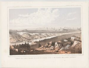 "1860'S USPRR LITHOGRAPH ""VIEW OF THE CLARK'S FORK """
