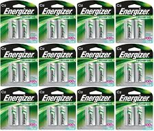 12 - Energizer Rechargeable C Nimh Batteries 2 Pack