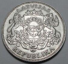 ORIGINAL 1924 LATVIA 1 LATS Silver 835 nice details