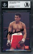 Muhammad Ali Autographed Signed 1991 All World Card Beckett BAS #11144779