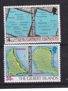 GILBERT  ISLANDS MNH STAMP SET 1976 SEPARATION OF THE ISLANDS SG 1-2