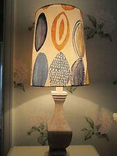 Handmade Tall Tapered Drum Lampshade Prestigious Lombok Indigo fabric 25cm