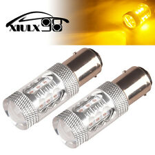 2X 1157 80W 3030 LED Amber Yellow Turn Signal Lights Bulbs 1920LM 12V 24V