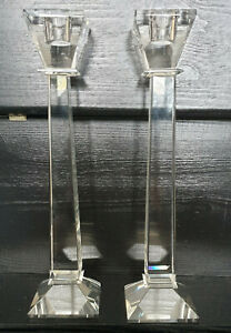 Art Deco Style Tall Stem Candlestick/ Candle Holders