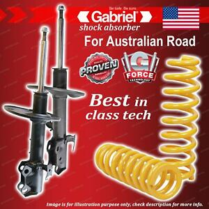 Front Gabriel Ultra Shocks + Raised King Coil Springs for Toyota RAV 4 ACA33R