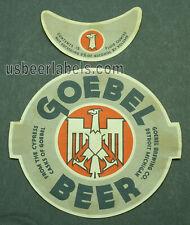 1930's Irtp beer label - Goebel Beer 6% - Detroit, Mi