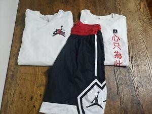 Mens Nike Air Jordan 3pc Lot, Long Sleeve, Shorts, Short Sleeve Sz Large