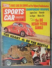 SPORTS CAR GRAPHIC MAGAZINE 1968 JANUARY VW BEETLE BUG DUNE LAGUNA SECA