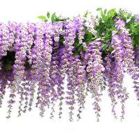 12pcs/Lot Artificial Wisteria Flowers Fake Vine Silk Flowers Decor 110cm long