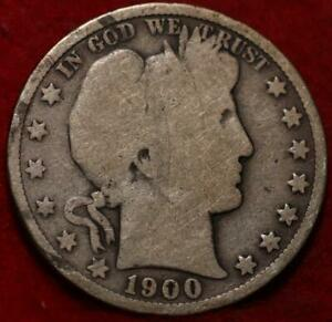 1900 Philadelphia Mint Silver Barber Half Dollar