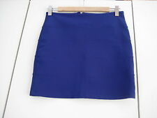 Topshop blue polyamide mix stretchy mini skirt, UK 10, EUR 38, US 6