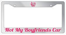 Chrome License Frame Not My Boyfriends Car Hello Kitty JDM HOT PINK