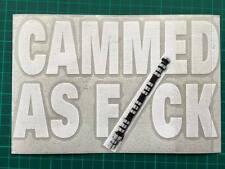 KILLER GRAFFIX DIGITALLY PRINTED CAMMED AS F#CK STICKER CAR BOAT BIKE CARAVAN