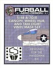 Furball Decals 1/48 A-7D/E CORSAIR Canopy, Wheel Hub, Taxi Light Vinyl Mask Set