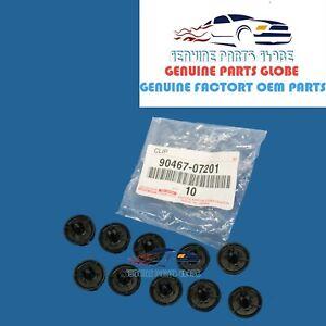 NEW TOYOTA LEXUS SCION GENUINE ENGINE UNDER COVER RETAINER SET 10 X 90467-07201