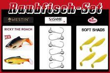 12 Teile Set  Westin Ricky the Roach + Mann´s Soft Shad + Sasame Jigs