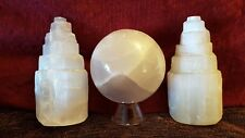 Bargain Selenite Bundle Two 10cm Towers and Beautiful Large 7cm Crystal Ball