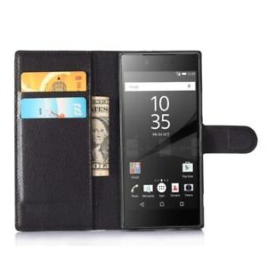 Pour Sony Xperia XA1 ULTRA - Etui Housse Portefeuille Cuir Synthétique