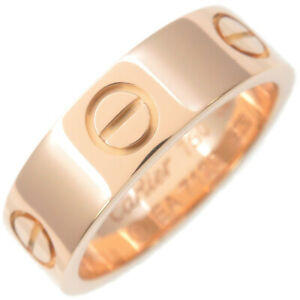 Authentic Cartier Love Ring K18 750PG Rose Gold #52 US6-6.5 HK13.5 EU52 Used F/S