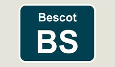 1x Bescot Train Depot Sticker/Decal 100 x 77mm