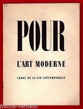 Pour L'Art Moderne Cadre de la vie Contemporaine 1934 U.A.M. Mallet-Stevens...