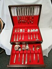 New Listing49pc Vintage Nobility Plate Silverplate Royal Rose Pattern Flatware Set Nice!