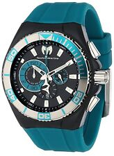 TECHNOMARINE 112010 Cruise Locker Aqua Silicone Strap 45mm Chronograph Watch