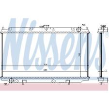 refrigeración del motor Radiador - Nissens 62927a