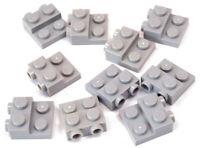 LEGO - 10 x Konverter Platte 2x2x2/3  Noppen seitlich hellgrau / 99206 NEUWARE