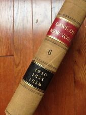 1810 - 1812  Public Laws of  New York Antique Book Oneida Indian NY City Taxes
