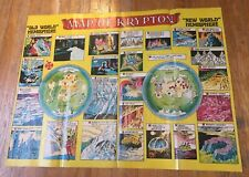 "Vintage Map of Krypton (DC Comics) Poster 27"" X 21"" from the 70's."