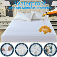 Cotton Waterproof Mattress Protector Fitted Sheet Home Bed Cover Queen King Size