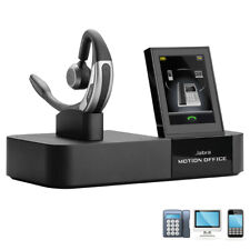 Jabra Motion Office UC Bluetooth Headset with USB Adapter and Touchscreen Base
