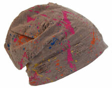 Cool4 Vintage Multicoloured Beanie Braun Khaki Slouch Mütze VSB32