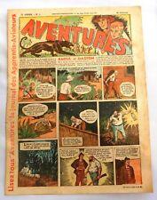 AVENTURES 1937 - n°1 - deuxième année. TBE