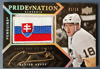 Marian HOSSA 2008-09 UPPER DECK BLACK PRIDE OF A NATION  GOLD AUTO PATCH 01/10 !