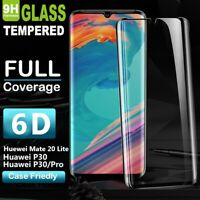 For Huawei P30 Pro P20 Mate 20 6D Full Curved 9H Tempered Glass Screen Protector