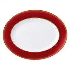 "Wedgewood Renaissance Red Oval Platter 13.75"" #40000764 New with Tag"